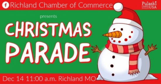 Richland Mo 2020 Christmas Parade Event   Holiday Activities in Pulaski County USA   Missouri